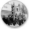 [1960s] The first mobile library of Kuhmo municipality (northeastern Finland) serving school children in the 1970s